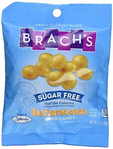 SweetGourmet Brach's Sugar Free Butterscotch Hard Candies 3.5 oz (1Bag) by SweetGourmet