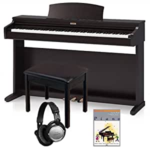 kawai kdp90 digital piano home essentials bundle 3 items musical instruments. Black Bedroom Furniture Sets. Home Design Ideas