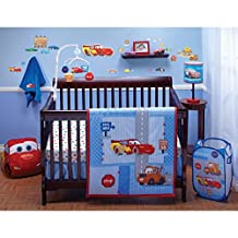 "Disney Cars Lightning McQueen ""Little Racer"" 4 Piece Crib Bedding Set"