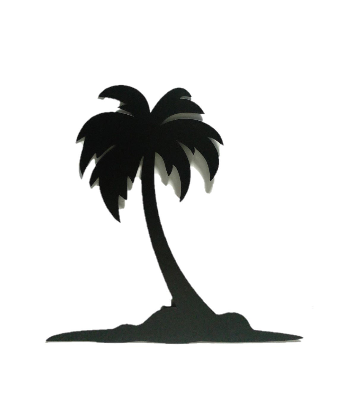 Bookishbunny Palm Tree 16'' Wrought Iron Wall Art Home Decor Tropical Beach Decoration Plaque Metal Art, 2mm thick (16 inches)