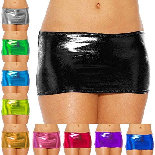 388530496 IBTOM CASTLE Women Mini Skirt Wet Look Shiny Bodycon Short Night Clubwear  Party Dance Costume Bandage