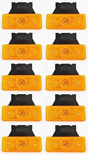 10/piezas /Ámbar Naranja 24/V luces laterales de marcador de contorno 4/ledes con brakets Chasis de remolque cami/ón cami/ón caravana