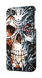LJF phone case S0224 Skull Iron Terminator Case Cover for iphone 6 plus 5.5 inch