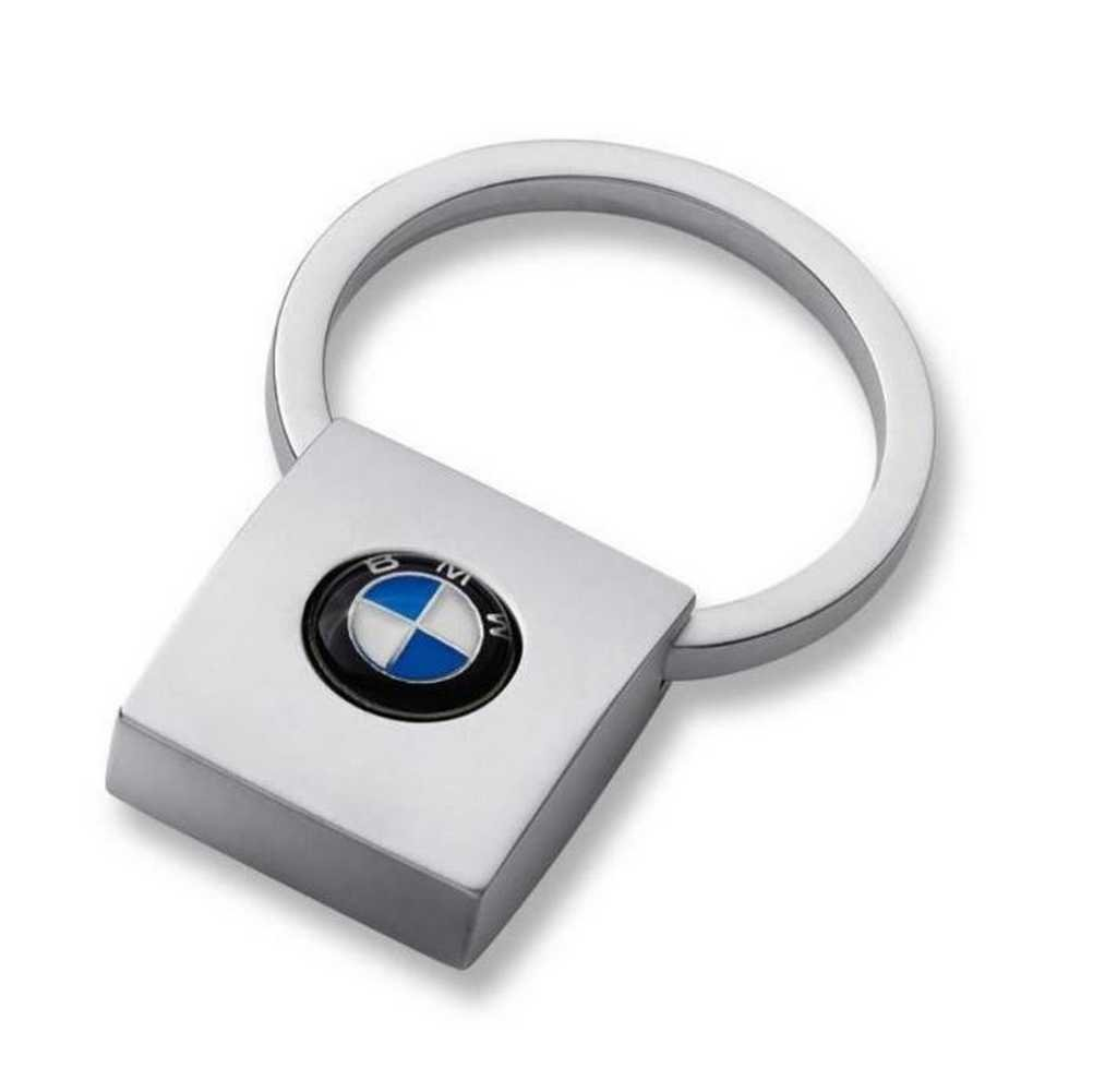 BMW Genuine Metal Keyring Key Chain Keyfob Square Pendant 80