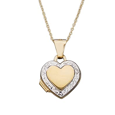 amazon small heart childrens necklace locket children lockets polished s dp gold yellow com