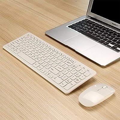 DGdolph Mld-568 Ultra-Slim USB Mini Teclado Inalámbrico Mini y Kit Combinado de Ratón Blanco Blanco: Amazon.es: Hogar