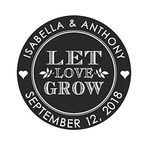 Let Love Grow Wedding Stickers Wedding Favor Stickers Flower Wedding Labels Let Love Grow Stickers Name Wedding Stickers for Favors F5:39
