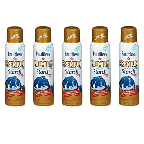 Faultless Premium Professional Starch, 20 Ounces (5) by Faultless