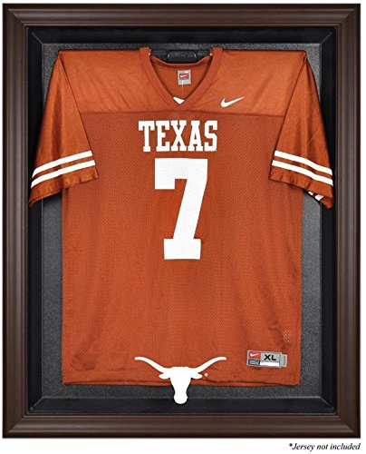 Texas Longhorns Brown Framed Logo Jersey Display Case by Mounted Memories