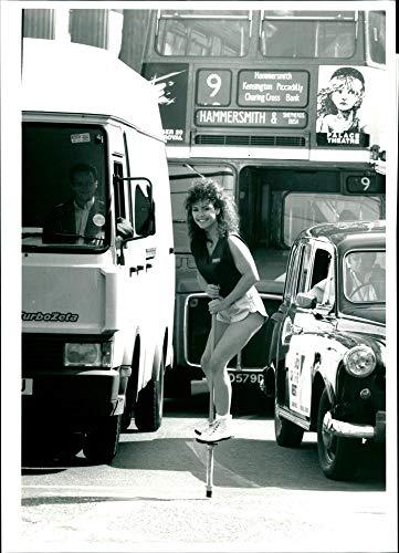 (Vintage photo of Pogo Stick: Carron Martin.)