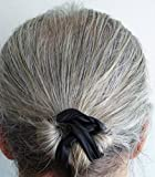 PRO MAN BUN The Only Quality Gentleman's Hair Tie for Top Knots and Buns. Sophisticated and Distinguished Styles. Black Vegan Leather. Handmade USA