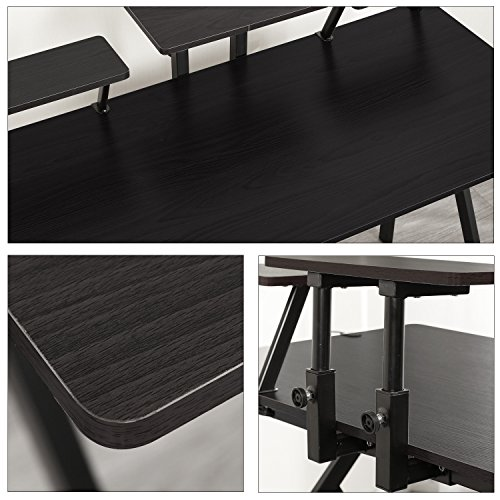 """DlandHome Gaming Computer Desk, 47"""" Gaming with Display & Stand & YX001-BB Black, 1 Pack"""