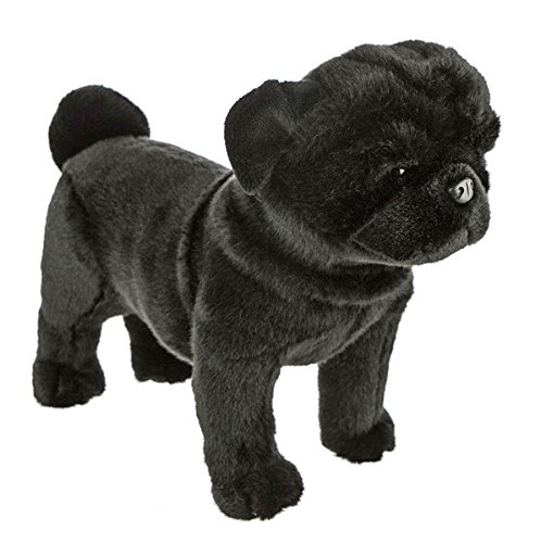 (Bocchetta Plush Toys Pug Dog Standing Stuffed Animal Plush Toy - Midnight Medium)