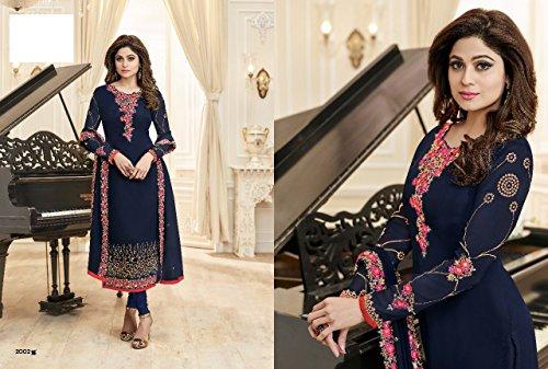 Pakistani Emporium Collezione Donna Wear Casual Party Etnic Dritto Bollywood Abito Personalizzato Designer Indian Georgette Adesivo Estiva Misura Su 2718 Indiano qdpTwA