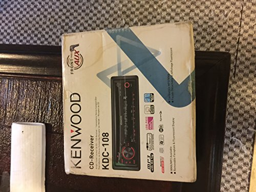 Kenwood KDC-108 In-Dash MP3/WMA CD Receiver with Detachable Faceplate