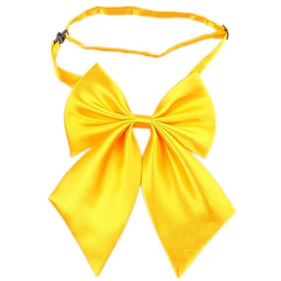 QIYUN.Z Jk Uniformes Cosplay Solides Filles Couleur etudiants La Mode Arc Cravate Cravates Bowknot
