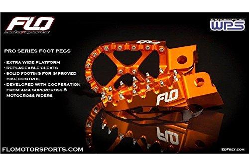 Flo Motorsports Orange KTM Foot Pegs for 50-525 SX/SXF FPEG-795ORG by Flo Motorsports (Image #4)
