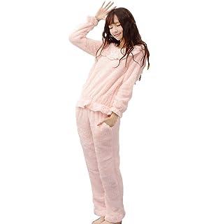 2210dcce84 Damen Nachtwäsche Langarm Rundhals Warm Verdicken Pyjama-Set Casual Winter  Coral Fleece Fashion Schöne Homewear