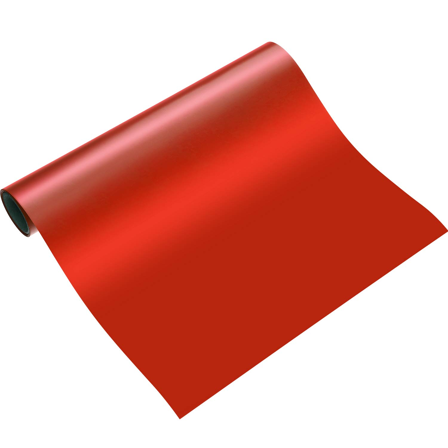 Blulu 1 Roll Heat Transfer Vinyl 12 Inch by 5 Feet for T-Shirts, Hats, Clothing, Iron on HTV Compatible with Cricut, Cameo, Heat Press Machines, Sublimation (Red)
