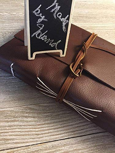 Leather photo album, personalized FREE, hand made by HeirloomLeathersmiths
