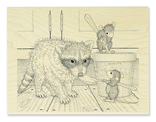 Stampendous Ice Cream Bandit House Mouse Wood Rubber Stamp (Rubber Stamp Ice Cream compare prices)