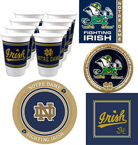 Westrick Notre Dame Fighting Irish Party Supplies - 80 Pieces -
