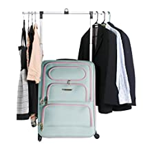 "The Travel Angel Suitcase Large Aqua/ Pink ""Miami Beach"""