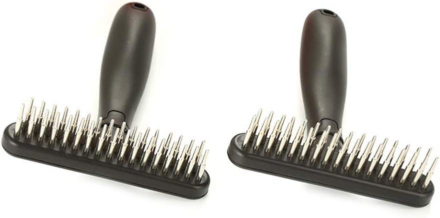 Pet Grooming Brush Deshedding Tool for Pet aoixbcuroc Dematting Comb for Dogs and Cats