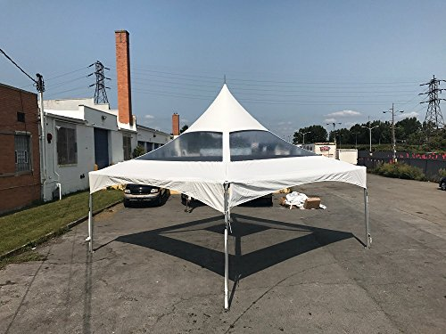 High Peak Clear Canopy - 20-Foot by 20-Foot Clear High Peak Frame Style Party Tent for Weddings, Graduations, and Events