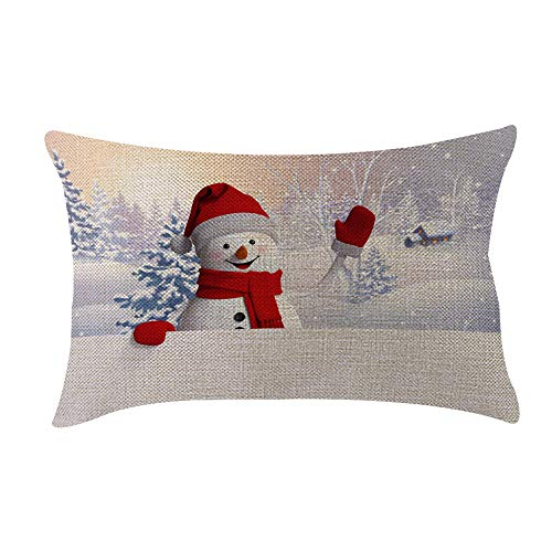 ♫ Toponly Christmas Decoration Festival Pillow Case Cushion Cover(20x12inch)]()