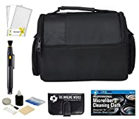Multi Compartment Compact Camera Bag Case + Accessories Bundle for DSLR, Coolpix, Powershot, Mirrorless, Compact Cameras and Lenses