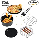 : Air Fryer Accessories for Gowise Phillips Cozyna and More, Deep Fryer Universal 6-pieces Premium Air Fryer Accessories Set Fit all 3.7QT &5.3QT & 5.8QT