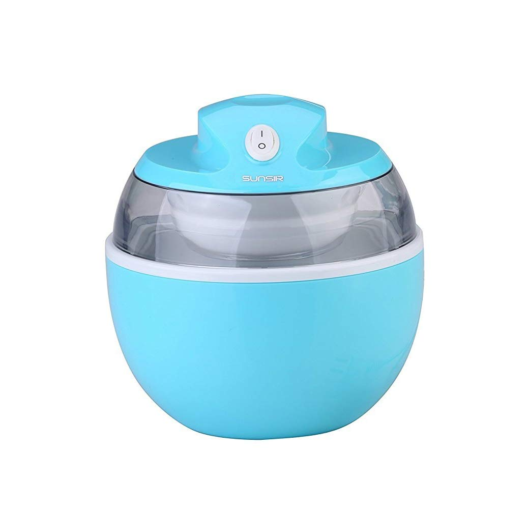 SunSir Mini (0.6 Quart/ 0.6L) Automatic Ice Cream Maker, Frozen Fruits Sorbet Maker, Ice Cream Machine for Kids with User Manual & Ice Cream Recipes- Own Healthy Ingredients ELSKY COMIN18JU082690