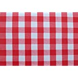 Tablecloth cotton plaid linen dinner summer dining tablecloth picnic throw blanket table cover gingham check buffalo bohemian checkered seats 2-4 people 55x55 inches red and white