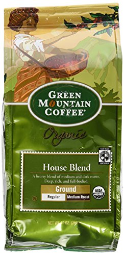 Green Mountain Coffee Light-complexioned Trade Organic House Blend, Ground, 10 Ounce Bag