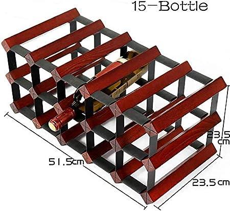 WGWJ Botellero Vertical, Almacenamiento apilable sin Columpios, Utilizado en la despensa del sótano de la Bodega (Color: 18 Botellas): Amazon.es: Hogar
