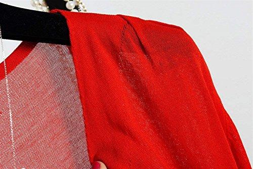 Eleganti Ragazze Tendenza Maglie Bolero Monocromo Modern Rot Sottile Traslucido Baggy Manica Giacca Accogliente Outerwear Giovane Estivi Maglione Traspirante Camicetta Donna Stile Lunga Cappotto Corto tEHwvv