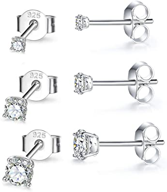 Sterling Silver Earrings and a pair of 4mm CZ Stud Earrings