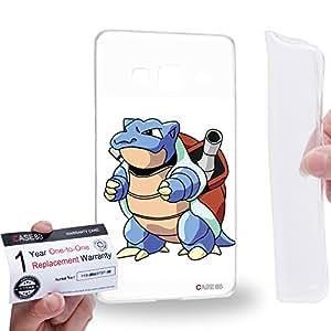 Case88 [Samsung Z3 Sm-Z300h] Gel TPU Carcasa/Funda & Tarjeta de garantía - Pokemon Pokemon Blastoise 0562