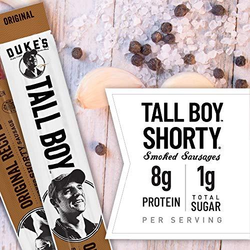 Duke's Original Recipe Tall Boy Smoked Shorty Sausage, Keto Friendly, 1 oz. 24-Count