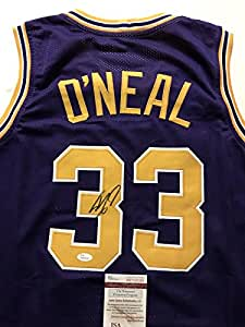 49fb9ee8b2a Amazon.com: Autographed/Signed SHAQUILLE SHAQ O'NEAL LSU Tigers ...