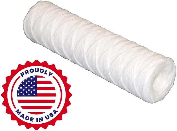 GreenStory Polypropylene String Wound Element Polypropylene Core Sediment Water Filter 4-Pack GSGWFWE5S3EX1-4 2-1//2Dia x 10 L 5 Micron 8 gpm