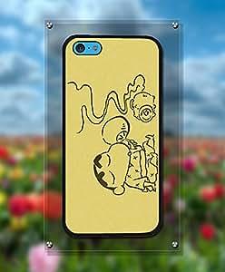 Cute Funda Case For Iphone 5c - Crayon Shin-Chan Cartoon Fantastic Artistic Cool Pattern Tough Hard Anti Slip Hard Shell Funda Case For Iphone 5c