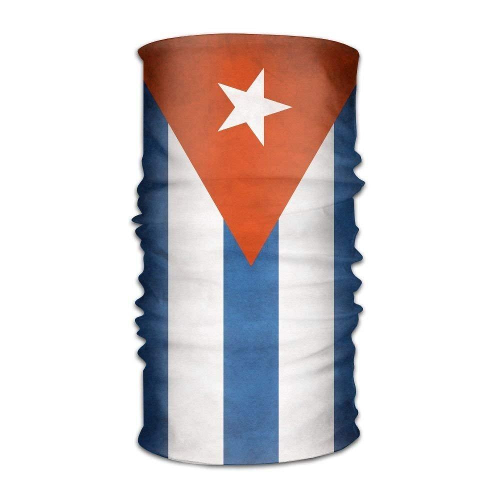 Unisex Stylish Cuban Flag Quick Dry Microfiber Headwear Outdoor Magic Bandana Balaclava Neck Gaiter Head Wrap Headband Scarf Face Mask Ultra Soft Elastic Handscarf