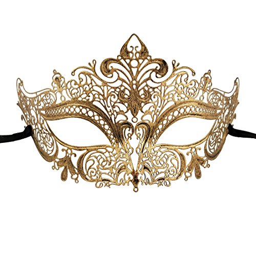 Xvevina Luxury Mask Vintage Look Metal Mask Masquerade Ball ()