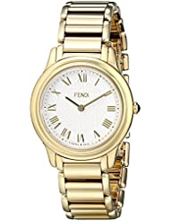 Fendi Womens F251434000 Classico Analog Display Quartz Gold Watch