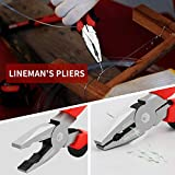"""MAXPOWER Wrench and Pliers Set, 6 Piece Kitbag Set. 7"""" Locking Pliers, 10"""" Groove Joint Pliers, 8"""" Long Nose Pliers, 8"""" Adjustable Wrench, 6"""" Diagonal Cutting Pliers, 8"""" Lineman's Pliers"""