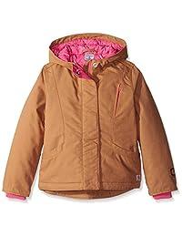 Carhartt Little Girls' Quick Duck Mountain View Jacket, Honey Ginger, 2X-Small/4-5