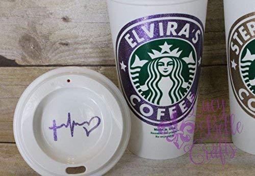 Personalized Glitter Reusable Plastic-16 Ounce Travel Mug