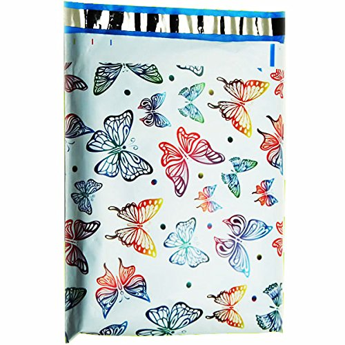 10x13 (100) Butterfly Designer Poly Mailers Shipping Envelopes Boutique Custom Bags By ValueMailers